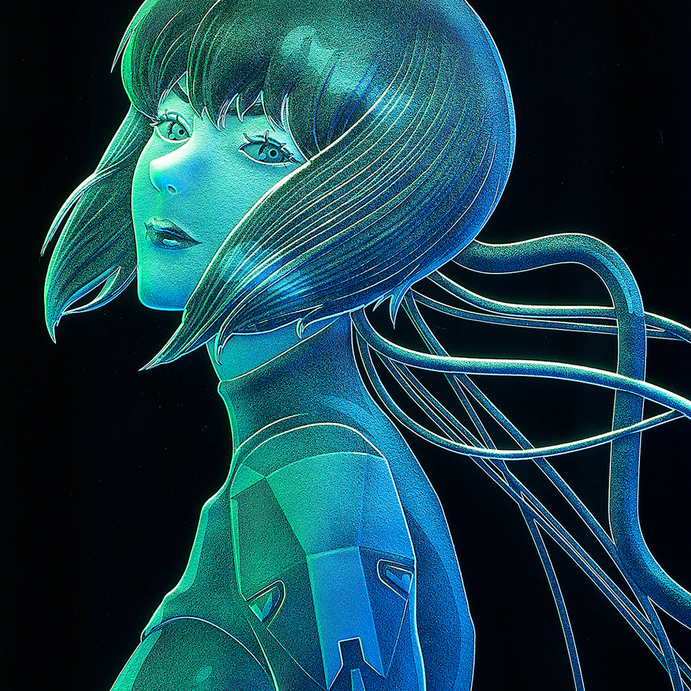 """Ghost in the Shell: SAC_2045"" Ultimate Etching glass 全世界限定・先着10個"