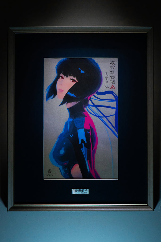 """Ghost in the Shell: SAC_2045"" ""MOTOKO"" Ukiyo-e Woodcut"