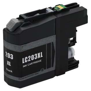 Compatible inkjet cartridge for Brother LC203BK - high capacity yield black, 550 pages