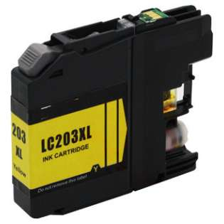 Compatible inkjet cartridge for Brother LC203Y - high capacity yield yellow, 550 pages