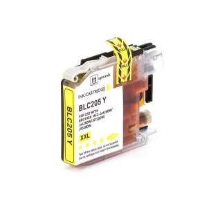 Compatible inkjet cartridge for Brother LC205Y - super high capacity yield yellow, 1200 pages