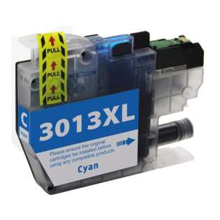 Compatible inkjet cartridge for Brother LC3013C - high yield cyan