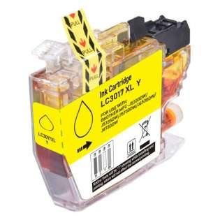 Compatible inkjet cartridge for Brother LC3017Y - high yield yellow