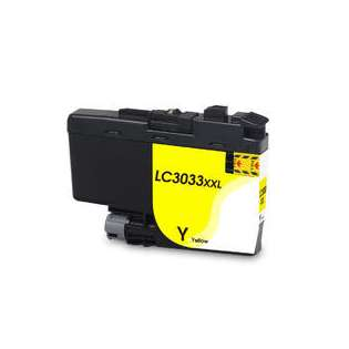Compatible inkjet cartridge for Brother LC3033Y - super high yield yellow