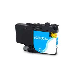 Compatible inkjet cartridge for Brother LC3037C - super high yield cyan