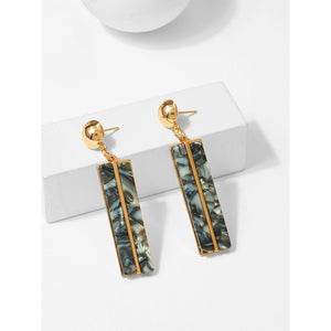 Bar & Ball Drop Earrings - VINT