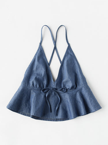 Chambray Cami Top - VINT