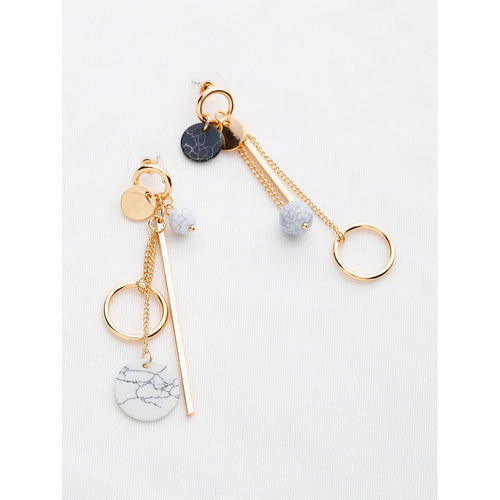 Multi Charm Drop Earrings - VINT