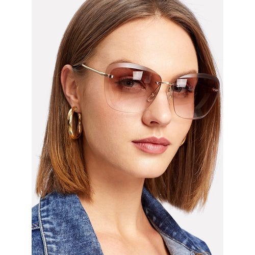Rimless Tinted Sunglasses - VINT