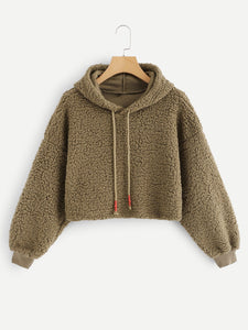 Hooded Teddy Sweatshirt - VINT