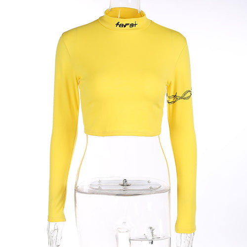 Yellow Rugged Crop Top - VINT