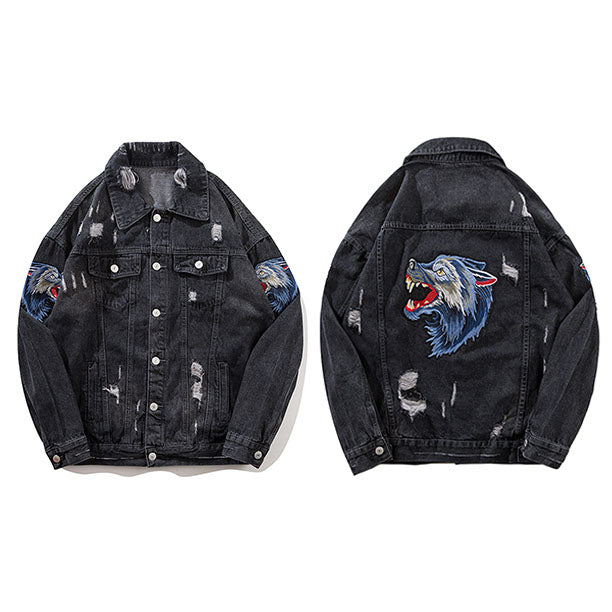 Lone Wolf Denim Jacket - VINT