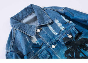 Beach Trees Denim Jacket - VINT