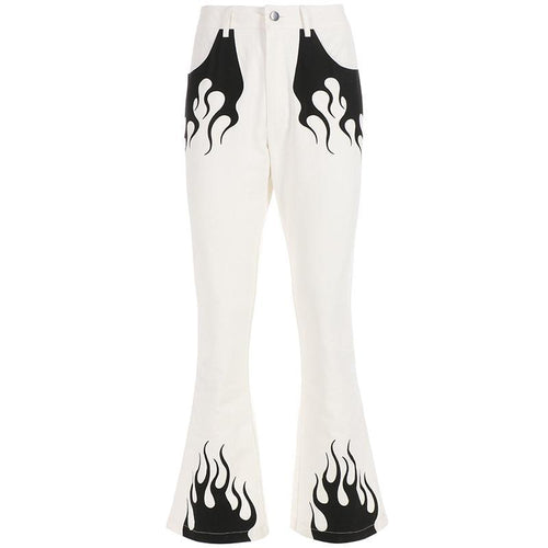 Flame High Waist Pants - VINT