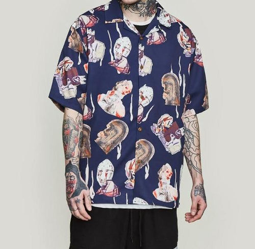 Elijah Abstract  Button Down - VINT