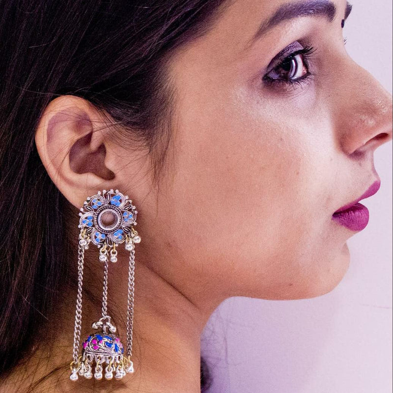Elegant Dangling Jhumka - Panigh Tradition in You Jewellery