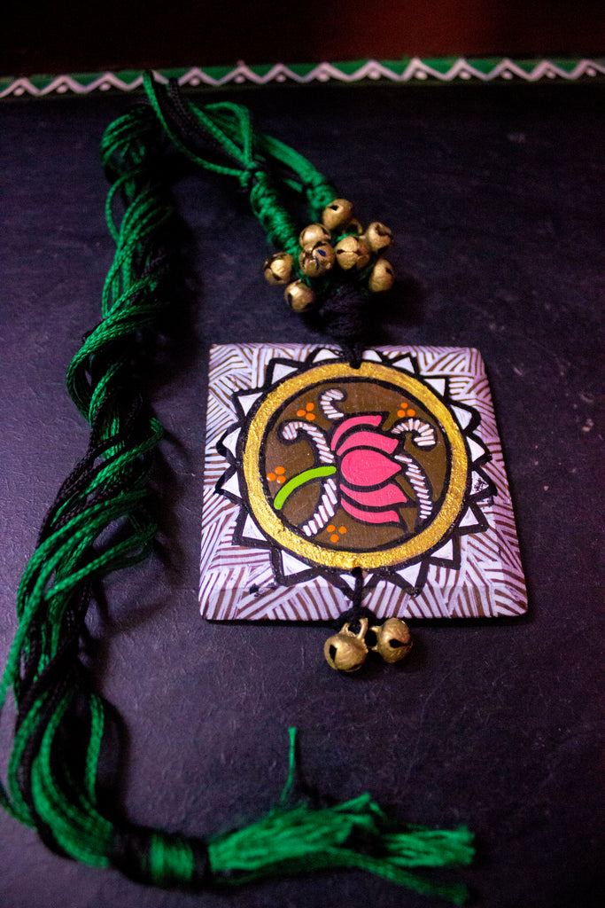 Wooden Lotus Pendant - Panigh Tradition in You Jewellery