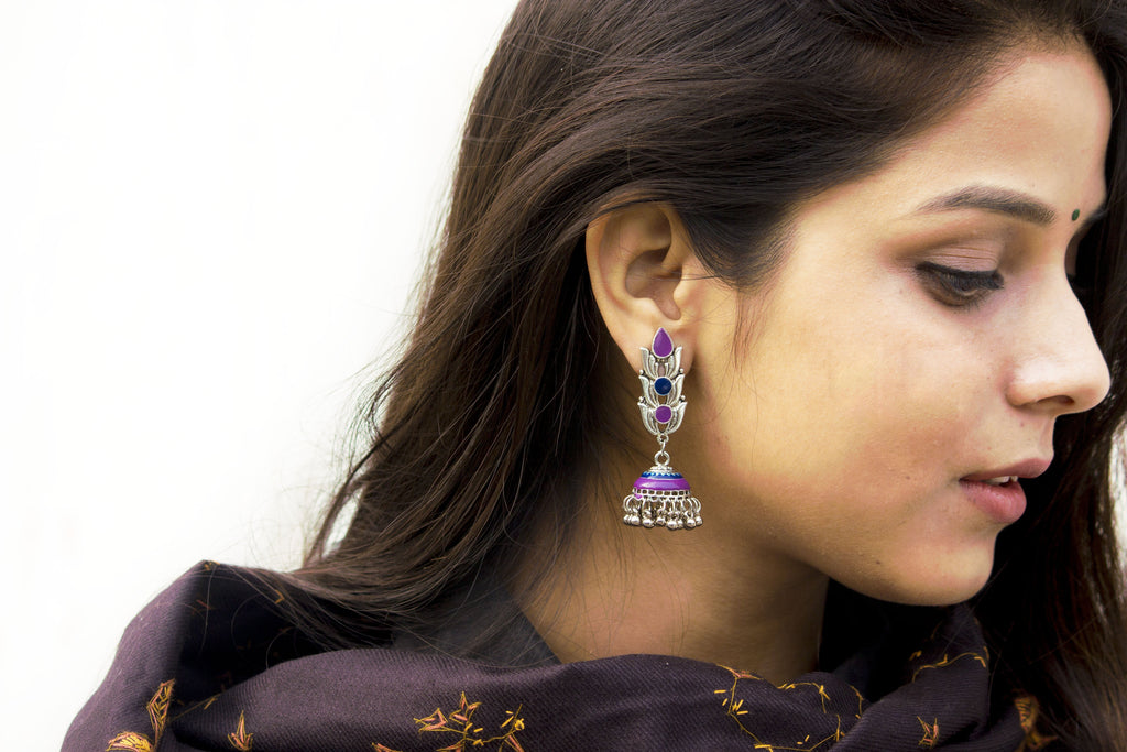Adorable Hand-painted Jhumka - Panigh Tradition in You Jewellery