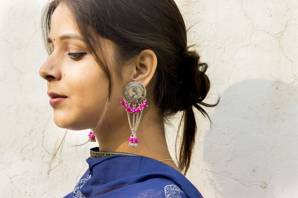 Pretty Pink Beads Earring - Panigh