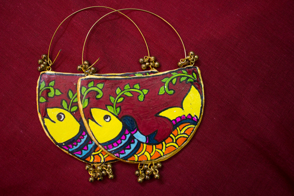 Beautiful Hand-Crafted Terracotta Earring - Panigh Tradition in You Jewellery