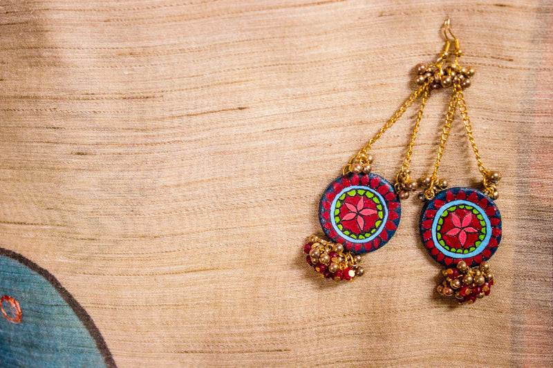 Beautiful Dangling Terracotta Earring - Panigh