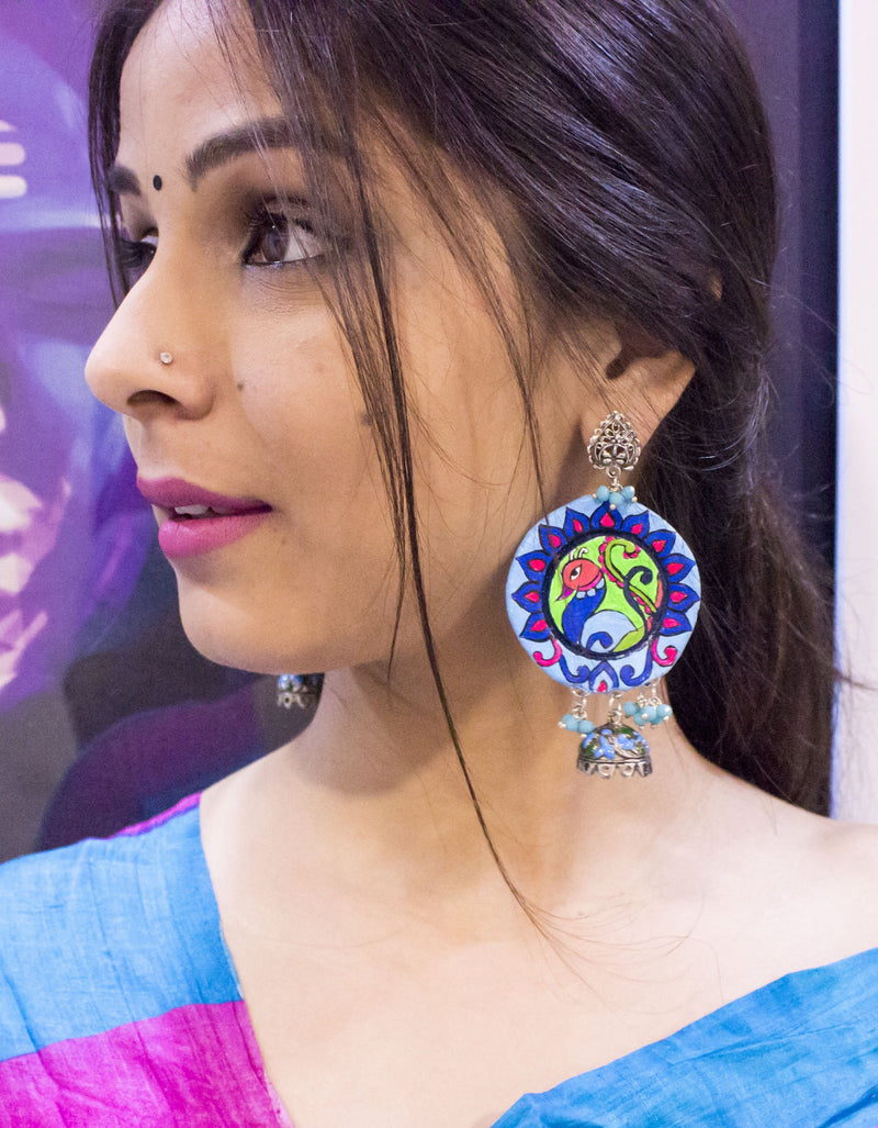Beautiful Round Terracotta With Jhumki - Panigh Tradition in You Jewellery