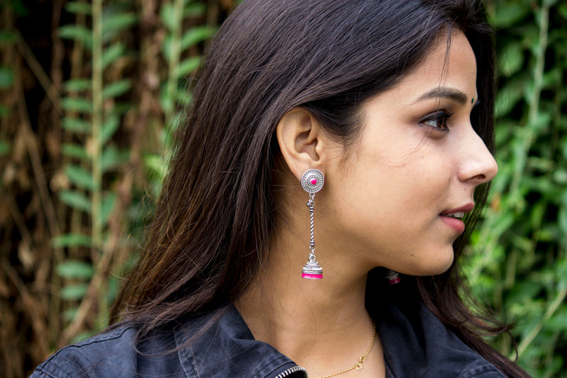 Adorable Hand-painted Jhumki - Panigh Tradition in You Jewellery