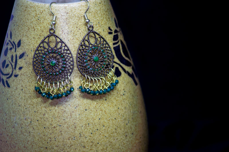 Lovely Brass Earrings - Panigh Tradition in You Jewellery