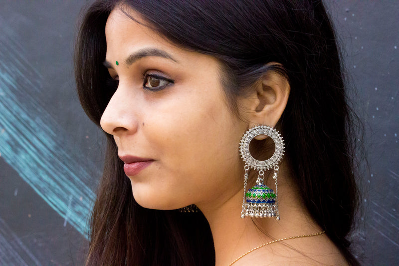 Royal Meenakari Earring - Panigh Tradition in You Jewellery