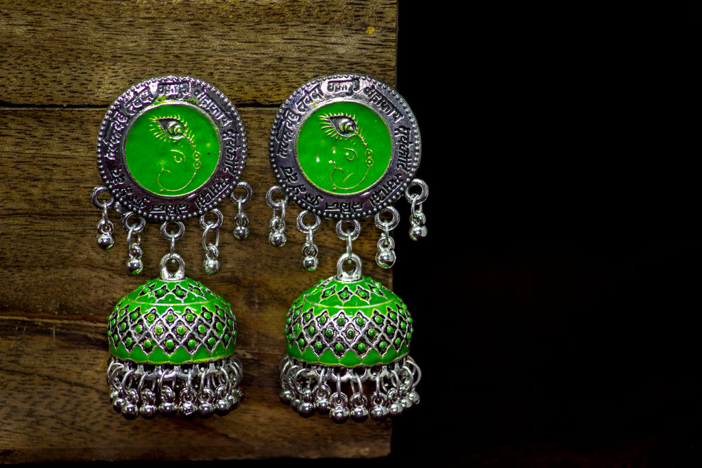Elegant Meenakari Earring - Panigh Tradition in You Jewellery