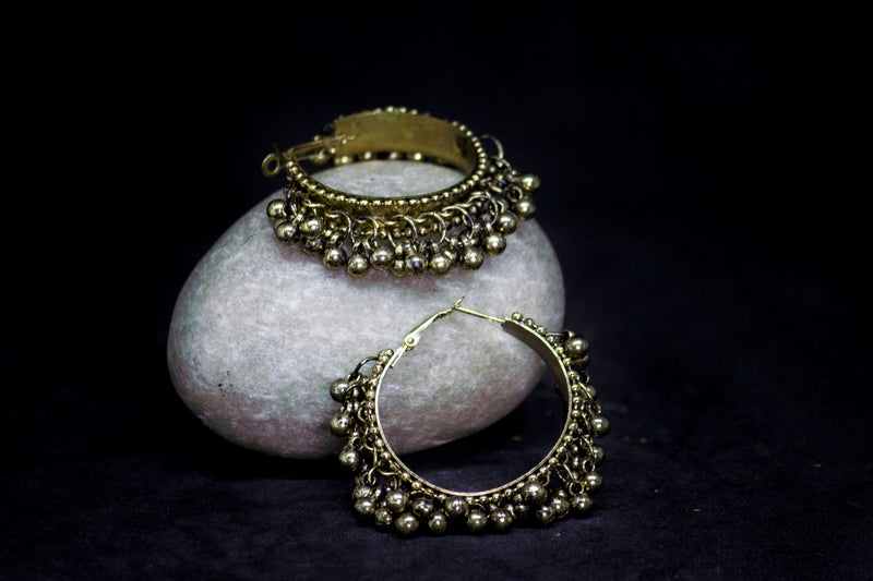 Beautiful Round Ghungroo Earring - Panigh Tradition in You Jewellery