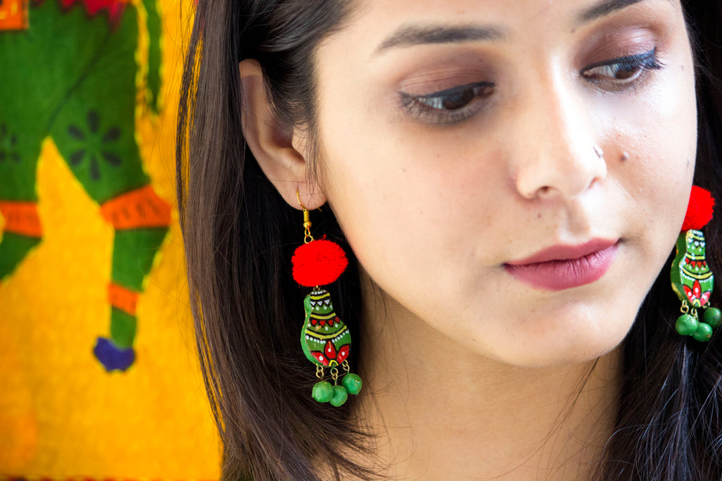 Adorable Matki Terracotta Earring - Panigh