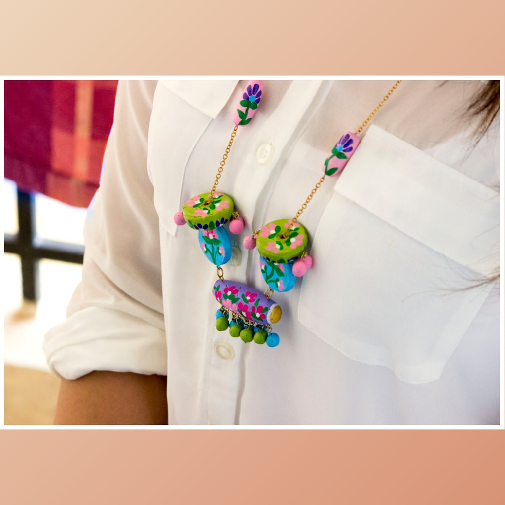 Beautiful Terracotta Necklace - Panigh