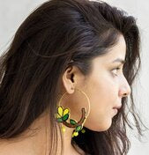 Adorable Flower Terracotta Hoop Earring - Panigh