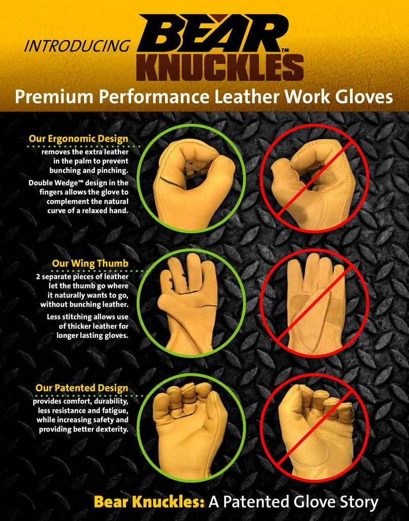 Premium performace leather work gloves