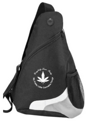 Black Gray & White - MPLCT Nylon Shoulder Sling pack - White Logo