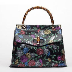 Embossed Ladies Leather Tote