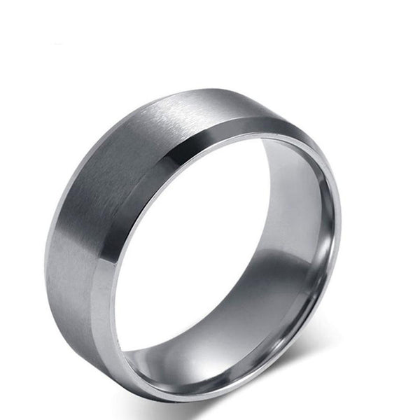 Stainless Steel Ring Titanium Silver Black Gold