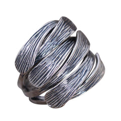 .925 Sterling Silver Woven Braided Ring