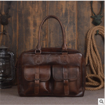 Leather Men's Bag Retro