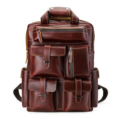 Men's Multifunctional Leather Backpack