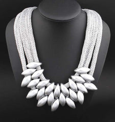 Multi-layer Silver Color Chain Star Necklace