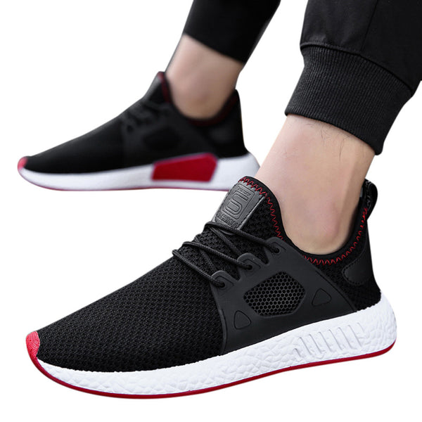 Men Fashion Solid Cross Tied Casual Shoes