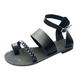 Women Fashion Buckle Outdoor Flat Roman Style Sandals