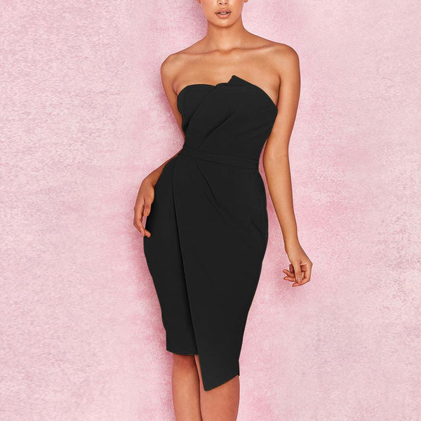 Off Shoulder Asymmetric  Party Dress