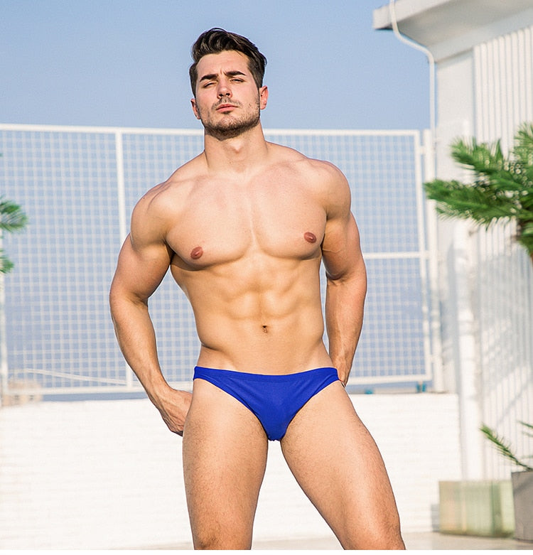 Taipei Mens Swim Briefs Low Waist Speedos Royal Blue