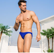 Load image into Gallery viewer, Taipei Mens Swim Briefs Low Waist Speedos Royal Blue