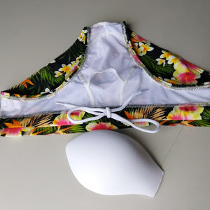 Nizza Floral Swim Trunks with Push Up Pad Tropical
