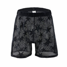 Load image into Gallery viewer, Hollywood Mesh Shorts Transparent Loungewear black
