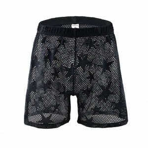Hollywood Mesh Shorts Transparent Loungewear black